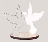 Statuetka gołąbki ozdoba na tort weselny