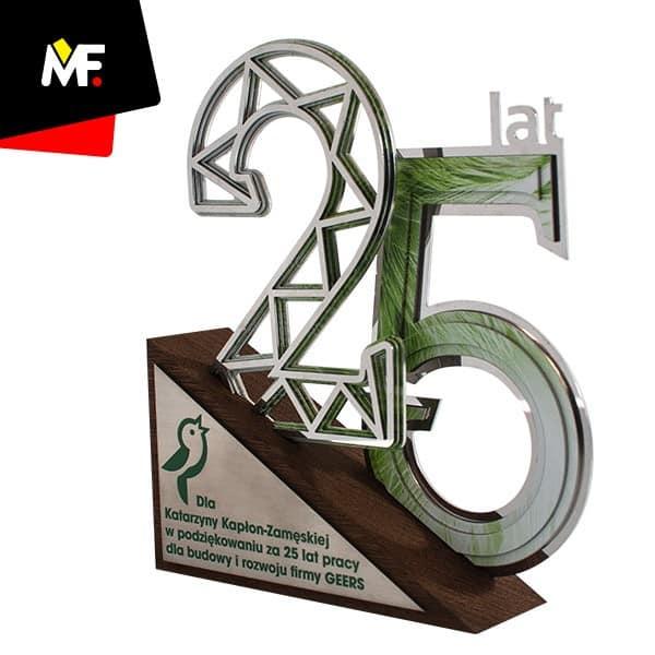 Statuetka jubileuszowa 25 lat firmy GEERS