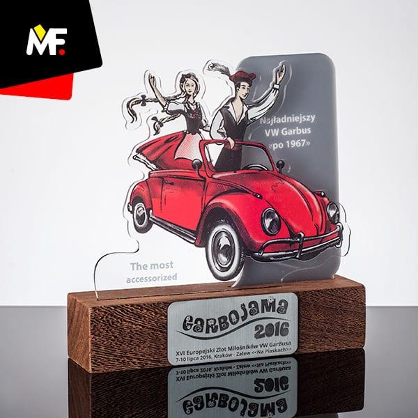 Statuetka samochodowa XVI Europejski Zlot Miłośników VW Garbusa
