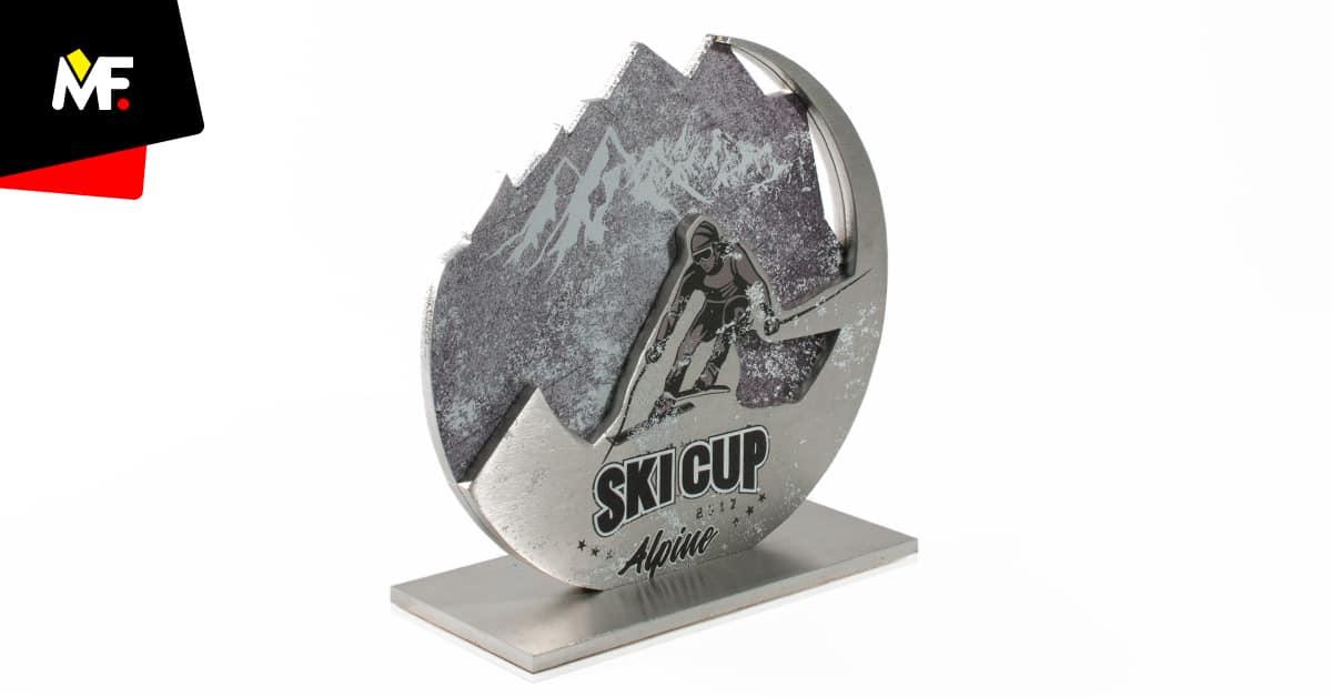 Statuetka narciarska personalizowana, ze stali, producent Modern Forms