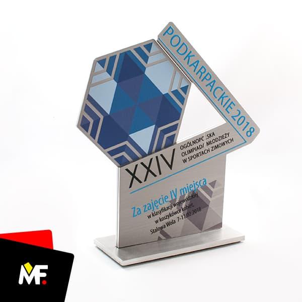 Statuetka sportowa IV miejsce na XXIV Ogólnopolskiej Olimpiadzie Młodzieży w Sportach Zimowych
