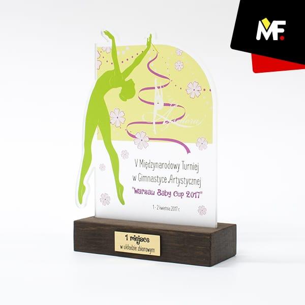 Statuetka gimnastyka artystyczna I miejsce Warsaw Baby Cup 2017