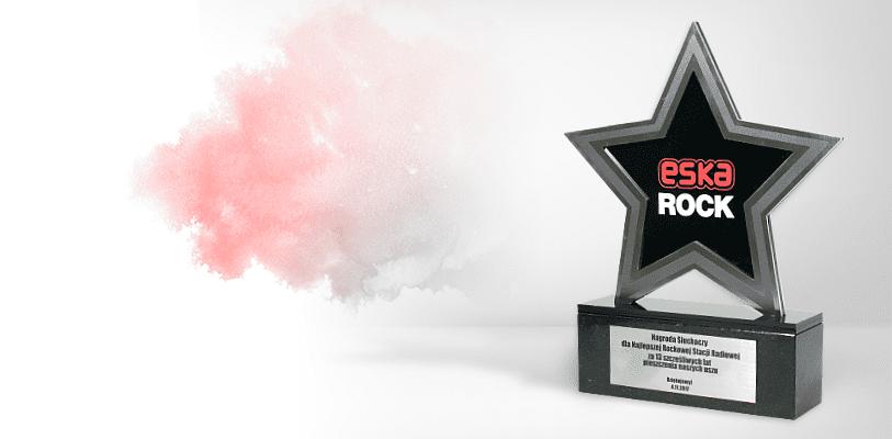 Statuetka gwiazda, nagroda słuchaczy dla Eska Rock jako najlepszej rockowej stacji radiowej