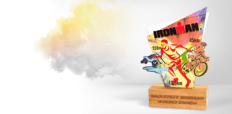 Statuetka triathlon z dedykacją - Najlepszy Ironman Stryków 2017