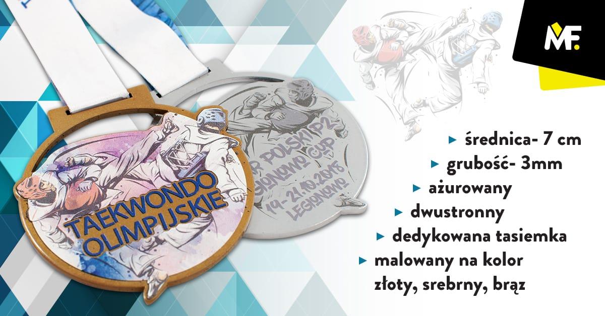 Medale na zawody taekwondo