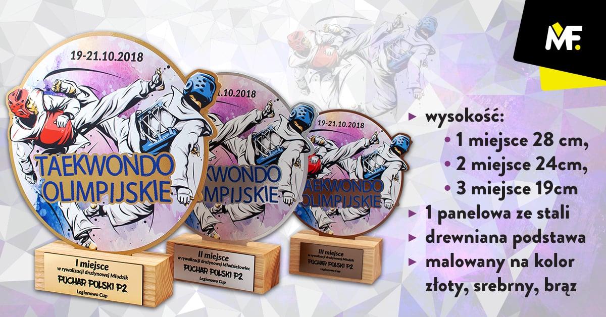 Statuetki na zawodu sportowe taekwondo