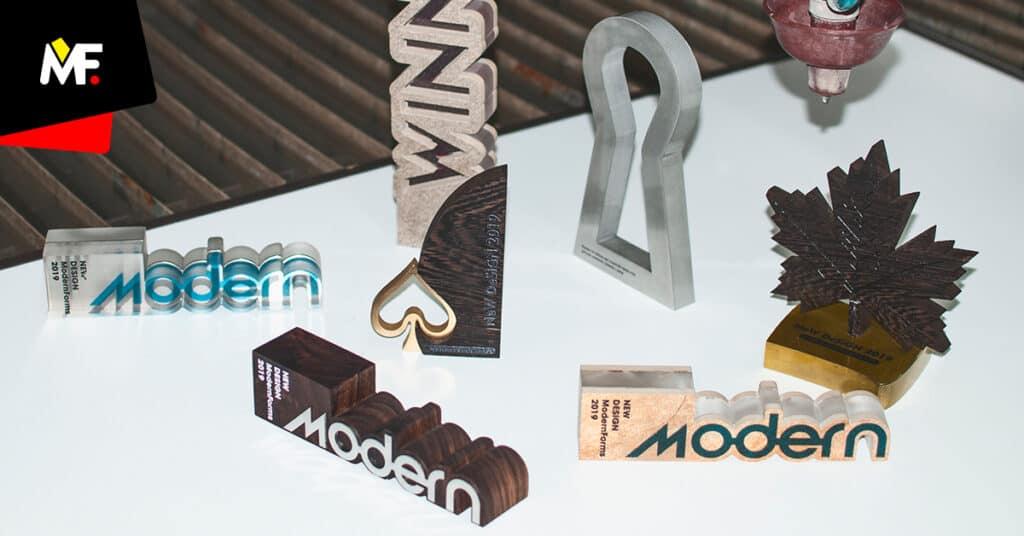 Nowoczesne statuetki Modern Forms różne kształty