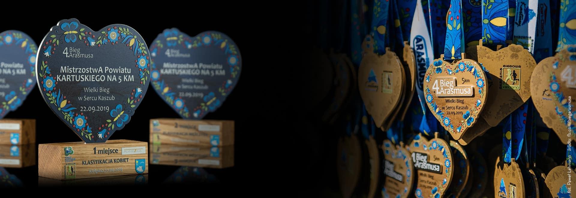 Zestawy nagród - medale, statuetki i trofea, otwieracze, pinsy